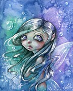 Whimsy Mixed Media Framed Prints - Celestial Dreams Framed Print by Sour Taffy