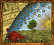 Woodcut Metal Prints - Celestial Mechanics Metal Print by Science Source