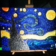 Van Goh Paintings - Celestial Night by Sable Davenport