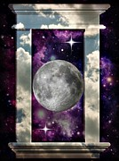 Full Moon Digital Art Originals - Celestial View by Jessica Grandall