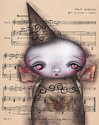 Big Eyed Art Framed Prints - Celestyna Framed Print by  Abril Andrade Griffith
