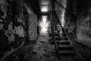 Haunting Art - Cell Block - Historic Ruins - Penitentiary - Gary Heller by Gary Heller