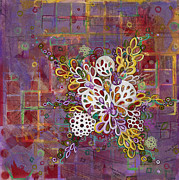 Cellular Metal Prints - Cell No.16 Metal Print by Angela Canada-Hopkins