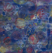 Healing Art Painting Prints - Cell No.21 Print by Angela Canada-Hopkins