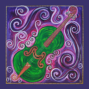Chello Prints - Cello 2 Print by Felicity Kelly-Cruise