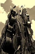 Strings Digital Art Posters - Cellos In The Sky Sepia Poster by Rob Hans