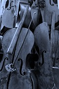 Violin Digital Art - Cellos4 Cyan by Rob Hans