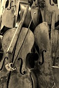 Strings Digital Art Posters - Cellos4 Sepia Poster by Rob Hans