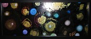 Orbs Paintings - Cellular Life 2 by Kim Peto