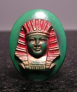 Egyptian Jewelry - Celluloid Sphinx Head 9 by Dwight Goss