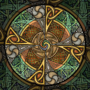 Aperture Mixed Media Prints - Celtic Aperture Mandala Print by Kristen Fox