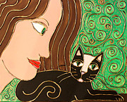 Cynthia Snyder Posters - Celtic Cat Poster by Cynthia Snyder