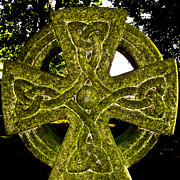 Celts Metal Prints - Celtic Cross Metal Print by David Pyatt