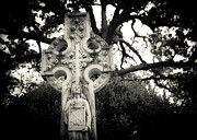 Religious Art Photos - Celtic Cross by Sonja Quintero