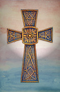 Celtic Cross Sunrise Print by Sandi OReilly
