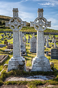 Celtic Crosses Print by Adrian Evans