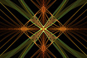 Fractal Designs Prints - Celtic Diamond Print by Sandy Keeton