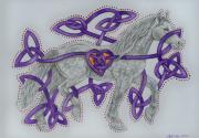 Celtic Equine Heart  Print by Beth Clark-McDonal
