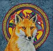 Celtic Fox Print by Beth Clark-McDonal