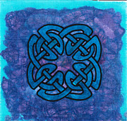 Batik Tapestries - Textiles Posters - Celtic Knotted Poster by Toni McCullough