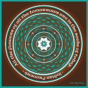 Knotwork Digital Art - Celtic Lotus Mandala by Angela Dawn MacKay