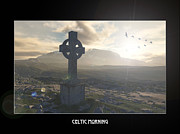 Celtic Cross Drawings - Celtic Morning by Russell Smeaton