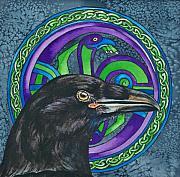 Celtic Raven Print by Beth Clark-McDonal