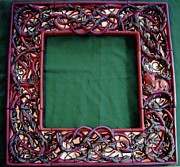 Ceramic Sculpture Ceramics - Celtic Tree of Life Frame by Charles Lucas