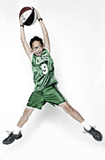 Slam Photo Prints - Celtics Fan Print by Tolga Kavut