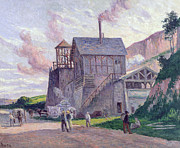 Industrial Painting Prints - Cement Factory at Vermenton Print by Miximilien Luce