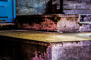 Crumble Metal Prints - Cement Steps Number One Metal Print by Bob Orsillo