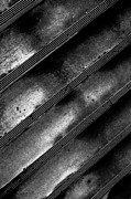 Crumble Metal Prints - Cement Steps Number Two Metal Print by Bob Orsillo