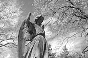 Angelic Metal Prints - Cemetery Angel Metal Print by Jennifer Lyon