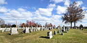 Civil War Battle Site Photo Prints - Cemetery at Gettysburg National Battlefield Print by Brendan Reals