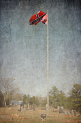 Flag Stones Posters - Cemetery Flag Poster by Bob and Nancy Kendrick