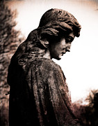 Religious Art Digital Art Prints - Cemetery Grief Print by Sonja Quintero