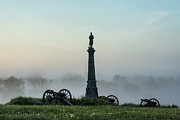 Volunteer Infantry Prints - Cemetery Hill Gettysburg  Print by John Greim