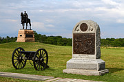 Battlefield Site Prints - Cemetery Ridge Gettysburg Print by James Brunker