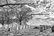 Chuck Kuhn Prints - Cemetery VIII Print by Chuck Kuhn