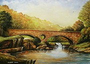 Tranquility Painting Originals - Cenarth Falls Wales by Andrew Read