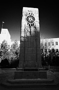 City Hall Prints - cenotaph war memorial in Saskatoon city hall Saskatchewan Canada Print by Joe Fox