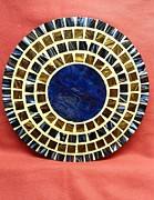 Circle Glass Art Originals - Center - circle by Fabiola Rodriguez