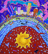 The Universe Paintings - Center of Creation by Marilyn Ponty Salzano