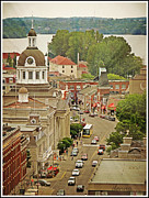 Downtown Kingston Posters - Center of Interest Poster by Donna Brown