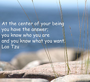 Lao Tzu Prints - Center of Your Being Print by TwinSoul Eyes