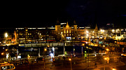 Amsterdam Digital Art - Centraal Station at Night by Pravine Chester