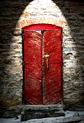Doors Pyrography - Central City Red Door by Gus Schoenamsgruber