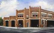 Barbara Haviland Framed Prints - Central Fire Station Framed Print by Barbara Haviland