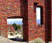 Old Mills Photos - Central Nevada Windows by Donna Spadola