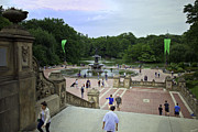Bethesda Fountain Framed Prints - Central Park - Bethesda Fountain Framed Print by Madeline Ellis